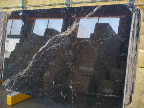 Slab marble of 3d black