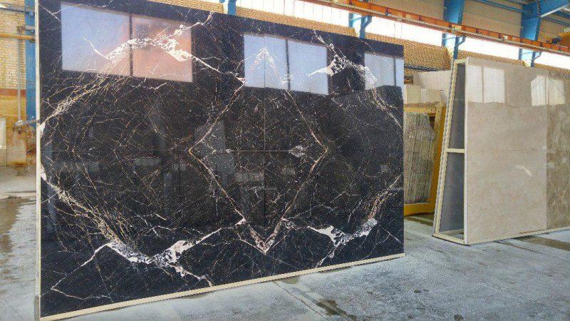 3d black marble slab