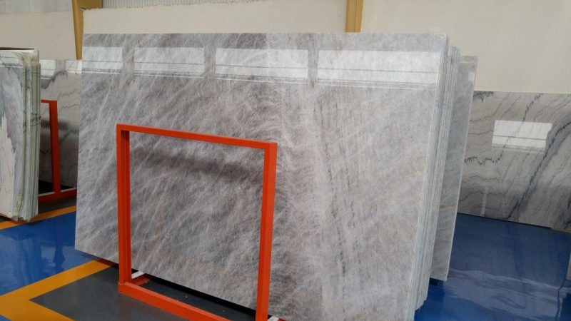 Grey Sky Crystal Marble Slab