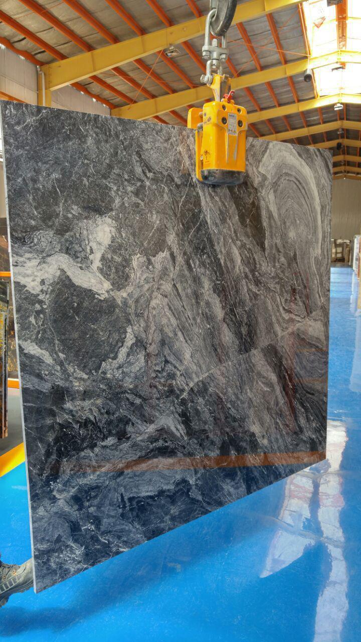 Wild Black Crystal Marble Slab