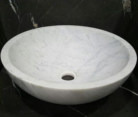 Persian White Crystal Basin