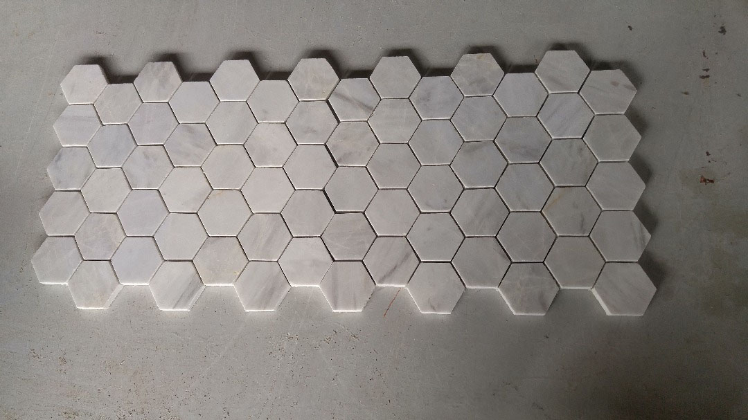 Persian White Mosaic Stone